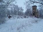 Lehtse mõisa peahoone varemed. Foto: Raili Uustalu 20.12.2018. Vaade varemetele edelast.