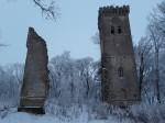 Lehtse mõisa peahoone varemed. Foto: Raili Uustalu 20.12.2018. Vaade varemetele kagust.