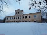 Kihlevere mõisa peahoone. Foto: Raili Uustalu 03.01.2019. Vaade hoone esiküljele lõunast.