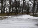 Udriku mõisa park. Foto: Raili Uustalu 07.12.2018. Vaade peahoone trepilt üle esiväljaku.