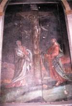 """Altarimaal """"Kristus ristil"""". Tundmatu kunstnik, 17. saj.(?), ülemaaling Kieruff(?), 1788 (õli, puit)"""