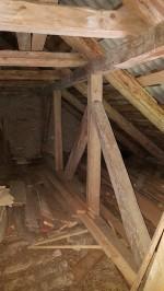 Sagadi mõisa sepikoda, originaalne katuse toolvärk. Foto: M.Abel, kp 07.05.19