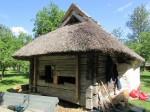 Mihkli talu saun restaureerimisel, käsil on proteestimine. Foto: Keidi Saks, 30.07.2019