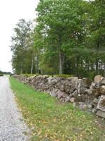 Viru-Jaagupi kalmistu, reg. nr 5800. Vaade uuesti üleslaotud põhjapoolsele kalmistu piirdemüürile. Foto: M.Abel, kuupäev 25.09.2009