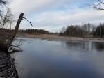 Esna mõisa pargi ja ansambli vaade edelast sillalt. Foto: K. Klandorf 11.01.2020.