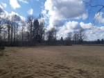"""Ohverdamiskoht """"Hiiemägi"""" Vedruka külas, vaade põhja poolt. Foto: K. Klandorf 04.04.2020."""