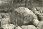 Kultusekivi (vasakul väiksem kivi on nr 10237) - läänest. Foto: H. Joonuks.