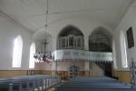 Sangaste kiriku sisevaade W suunas. Ü.Jukk, 15.07.2010