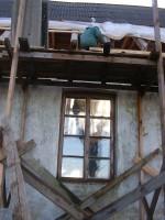 Katuse restaureerimine. Foto: Lilian Hansar. Kuupäev  29.11.2006