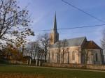 Vaade Nissi kirikule. Foto: Kadri Tael nov. 2011