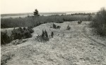 Kloodi Pahnimäe linnuse valli põhja- ja kirdeotsad läänest. Foto: O. Multer, mai 1983.