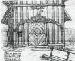 Fassaadi ehisfriis (ahtrikaunistus). Ventspils, 18. saj. ? (puit, nikerdatud). A.Pulsti joonistus,1921