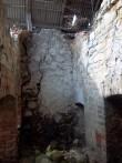 Hõreda mõisa esimese kuivati kütteruumi vaade (säilinud tellistest võlvlae fragmendid). K. Klandorf 28.03.2012