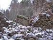Krüüdneri mõisa park Pargis asuva aida varemed on allapoole varisenud. 07.12.2011 Viktor Lõhmus