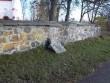 Hageri kirikuaia piirdemüür lääneküljel. K. Klandorf 04.11.2011