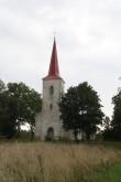 Vaade Jämaja kirikule ja kirikuaiale. Foto: Tõnu Veldre, 18.09.2012. Registrisse lisanud R. Peirumaa
