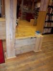 Kohila mõisa ait-kuivati sisevaade, salvede vaheseinad raamatukogu toas. K. Klandorf 11.10.2012