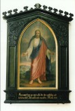 """Altarimaal """"Kutsuv Kristus"""" (""""Tulge minu juurde""""). L. H. Petersen, 1873 (õli, lõuend). Foto: J. Heinla 2003"""