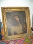 """Ikoon """"Kristus okaskrooniga"""". 19. saj. II pool (õli, lõuend). Foto: S.Simson 13.06.2006"""