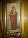 """Ikoon """"Jumalaema Kristuslapsega"""" ikonostaasil. 19. saj. II pool (õli, lõuend). Foto: S.Simson 13.06.2006"""
