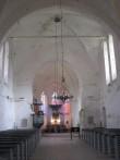 Valjala kiriku keskaegne ristimiskivi. Foto: Rita Peirumaa. 9.07.2007