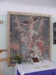 "Altarimaal ""Kristus ristil (Kolgata)"".  A. S. Schilderup, 1790 (õli, lõuend) Foto: Ü.Jukk 08.04.2003"