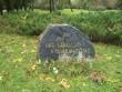 Mälestuskivi. Foto: Silja Konsa 28.09.2012