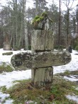 Puidust rist. Lümanda kalmistu. Foto: Rita Peirumaa. 31.01.2013