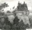 Graafiline leht «Toolse rand», G. Reindorff, 1958 (paber, grafiit)