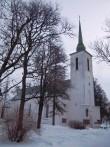 Vigala kiriku vaade loodesuunast. Foto K. Klandorf 26.02.2013.