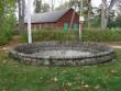 Inju mõisa pargi purskkaev :15979,vaade peahoone poolt-lõunast.  Autor Anne Kaldam  Kuupäev  01.10.2007