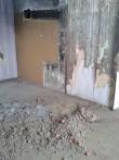 Lammutatud ahjuga ruum