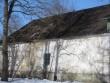 Hulja mõisa peahoone15659,vaade pargi poolt, näha hoone edelapoolse osa katuses olev auk  Pilt Anne Kaldam. Kuupäev  09.04.2013