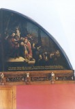 """Lünettmaal """"Kristus Pilatuse ees"""", J. Aken (õli, lõuend) Foto: Jaanus Heinla 2002"""