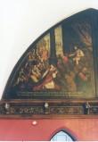 """Lünettmaal """"Seeba kuninganna Salomoni ees"""", J.Aken (õli, lõuend) Foto: Jaanus Heinla 2002"""