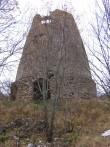 Porkuni mõisa tuuleveski :15861vaade lõunast, ees näha säilinud kõrvalhoone varemed.  Autor ANNE KALDAM  Kuupäev  31.10.2007