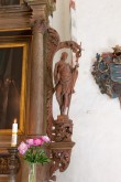 Altarisein. Chr.Ackermann, 1709 (puit, polükroomia). Detail: Ristija Johannes. Foto: Tõnis Nurk 18.05.2013