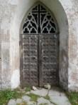 Vaade Pilistvere kiriku läänes olevale uksele. Foto: Anne Kivi, 24.09.2013