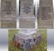 II maailmasõjas hukkunute ühishaud, reg. nr 5790. Samba detailid. Foto: M.Abel, kp. 11.10.13