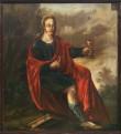 Apostel Johannese kujutis pingirinnatisel, 1650 (õli, puit). Pärast konserveerimist 2004. Foto: J. Heinla, 2005.