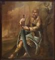 Apostli Siimon Kaanast kujutis pingirinnatisel, 1650 (õli, puit). Pärast konserveerimist 2004. Foto: J. Heinla, 2005.