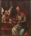 Evangelist  Matteuse kujutis pingirinnatisel, 1650 (õli, puit). Pärast konserveerimist 2004. Foto: J. Heinla, 2005.