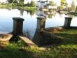 Pedja jõe äärne pargiterrass vaatega kultuurimajale - endise vesiveski kohale  Foto: Sille Raidvere  Kuupäev: 23.09.2008
