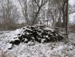 15715 Liigvalla mõisa pargi piirdemüür, vaade põhjast-peahoone juurest, Foto. Anne Kaldam 29.11.2013