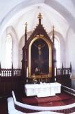 Altar koos retaabli ja altariaiaga. 19. saj. II pool (puit) Foto: Jaanus Heinla, 2000