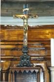 Krutsifiks (altari-). 19. saj. (messing, hõbetatud, valatud, kullatud) Foto: Jaanus Heinla, 2000