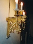 Seinalühter kolme tulega. 19. saj. (tsink, raud, pronksvärv) Foto: L. Krigoltoi, 2001