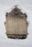 Tekstitahvel, 1597 (paas). Foto: V. Leitsar, dets. 2013.