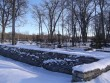 Põhjapoolne piirdemüür. Foto 28.02.2014 Silja Konsa.