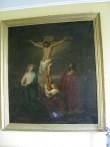 "Altarimaal ""Kristus ristil"". 19. saj. (õli, lõuend) Foto: S.Simson 06.09.2008"